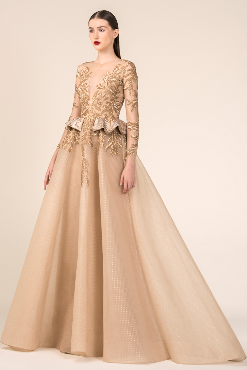 3a585c956648 Style RE3578 by Saiid Kobeisy RTW FW 18-19 / Belle | Belle/Red-Gold ...
