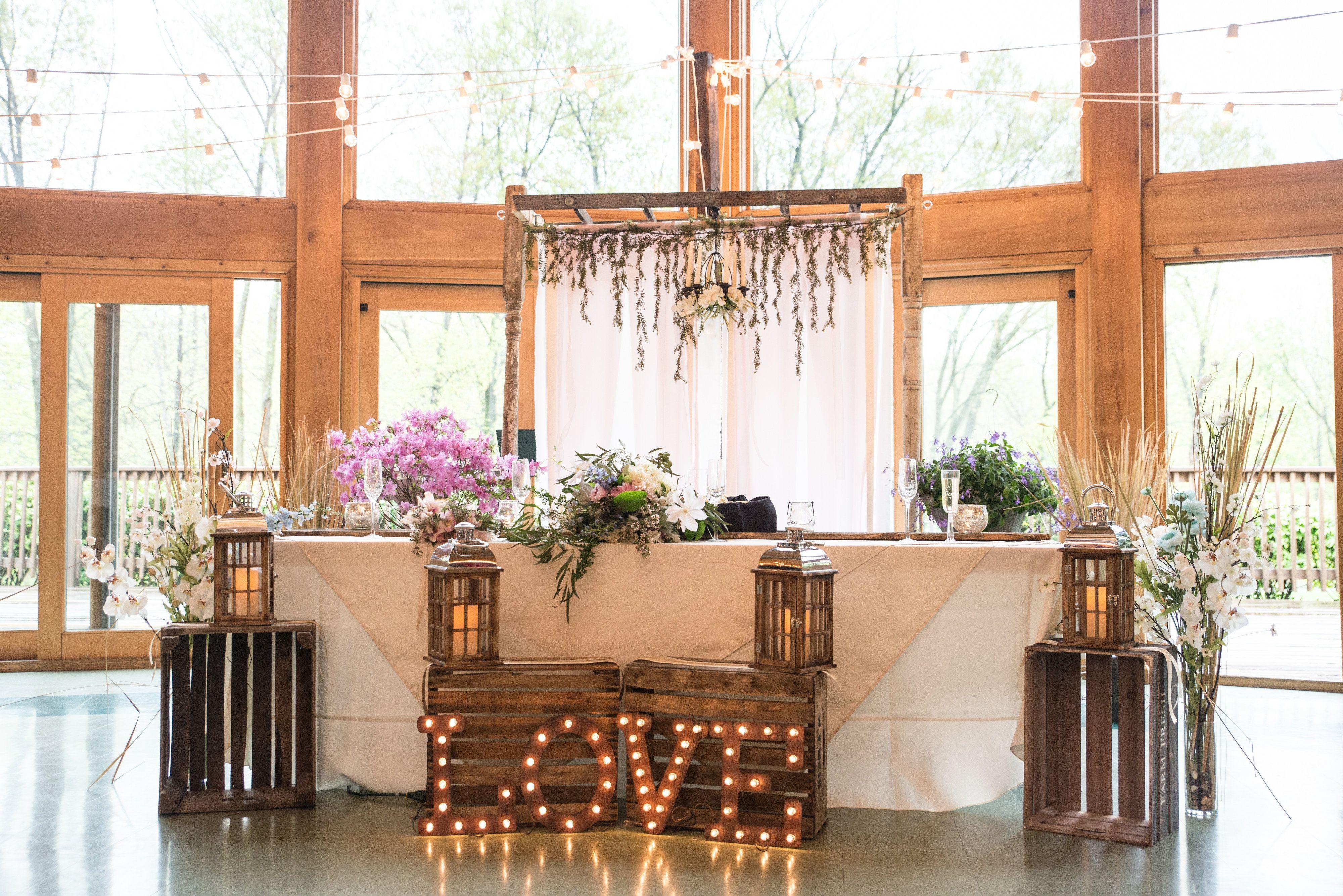 Wedding Reception at | Farm table wedding, Head table ...  |Outdoor Wedding Reception Head Table