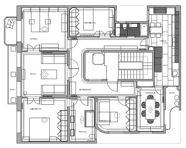 Cocina y ba o minimalistas n ria selva loox plantas for Plantas arquitectonicas minimalistas