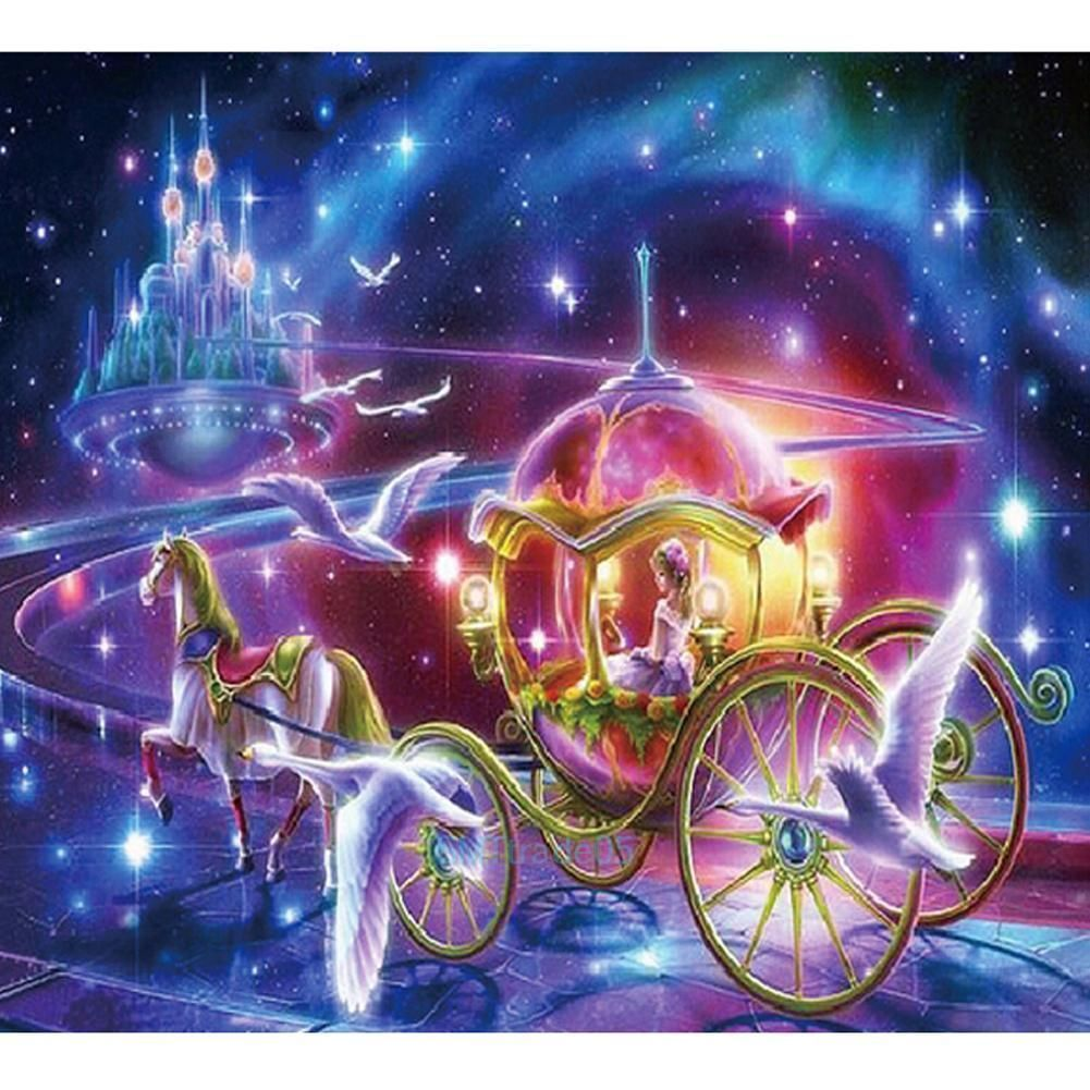 Carriage 5D Diamond DIY Embroidery Painting Cross Stitch Craft Kit Home Decor