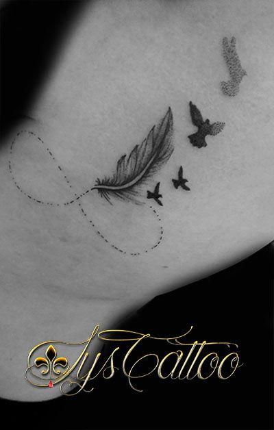 tatouage plume et oiseau tatouage tribal tattoo cover up ideas. Black Bedroom Furniture Sets. Home Design Ideas