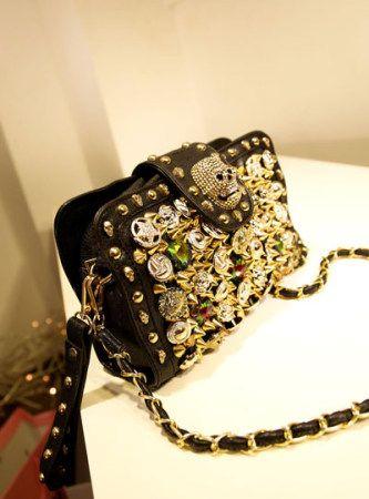 Button rivets Skull Clutch Messenger Bag & top rated handbag [kz75] - $49.99 : Gofavor.us