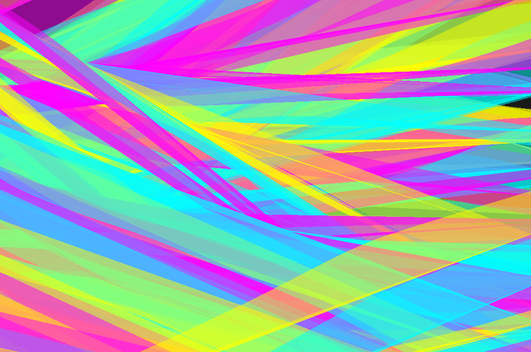 Colors & Movement    This piece was heavily inspired by the movement and opacity of the ribbons from the Chinese ribbon dance. The movement of the lines are controlled by Perlin noise, which is one of the most delicious algorithms for natural movement.
