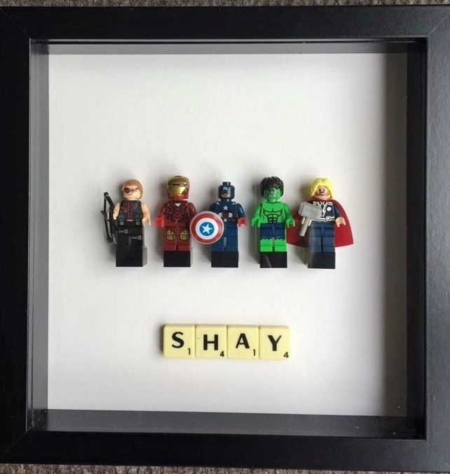 Fun Framed Minifigures - Marvel - DC - Lego £30.00 | For the Home ...