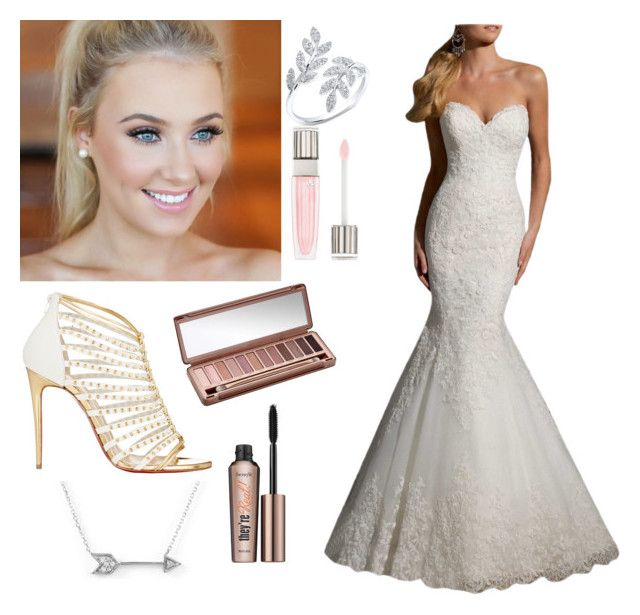 """Wedding day outfit "" by elliep857 on Polyvore featuring beauty, Christian Louboutin, Lancôme, Urban Decay, Benefit and Adina Reyter"