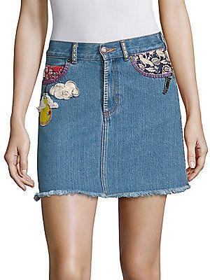 273b7d664c Marc Jacobs Denim Mini Skirt
