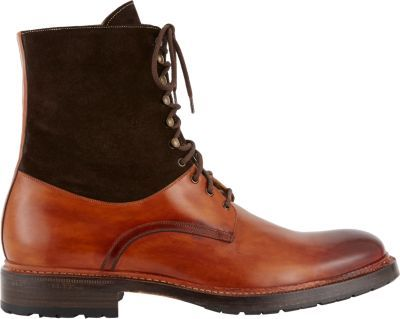 Harris+Two-Tone+Lace-Up+Boots+at+Barneys+Warehouse