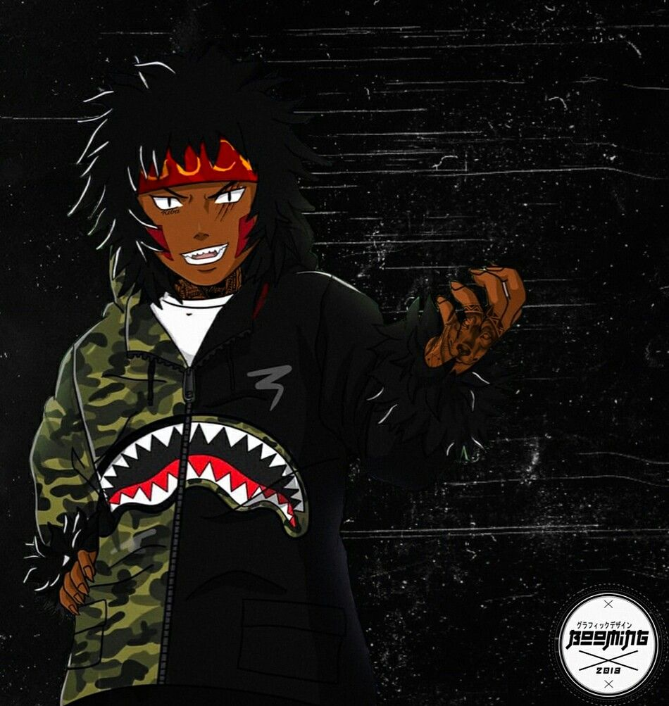 Pin By Badass Delevingne On Streetwear X Anime Other Characters Black Anime Characters Black Cartoon Characters Naruto Fan Art