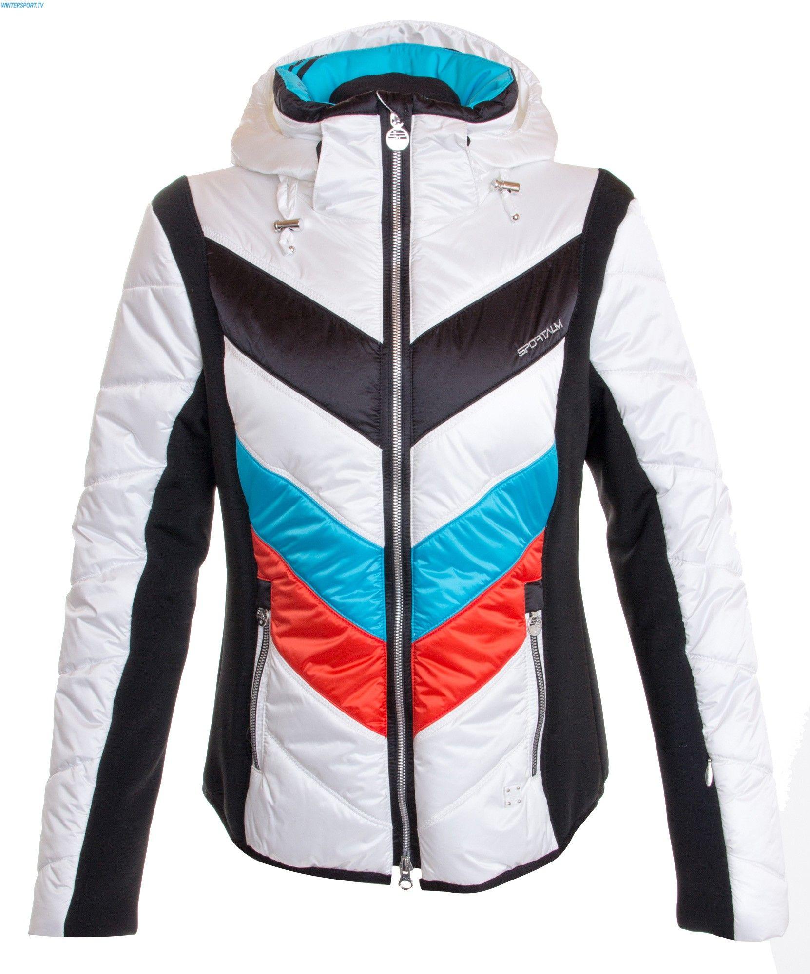 Sportalm Women Rubia Ice Jacket with Hood – White