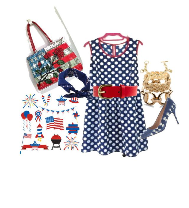 """""""Happy Fourth of July"""" by fashion4everyone ❤ liked on Polyvore featuring Gucci, Hermès, Isabella Fiore, ASOS and J.Crew"""