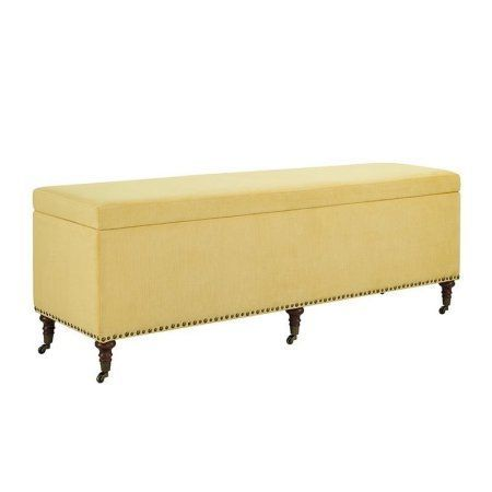 Cassidy Yellow Bench With Storage 60 Inch Products Pinterest