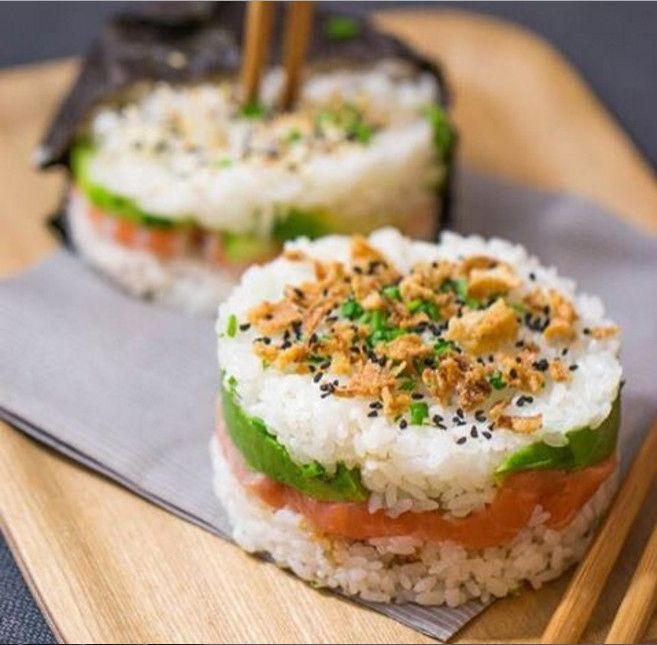 Sushi burgers are the wacky food mashup we can't wait to try: Sushi stacks