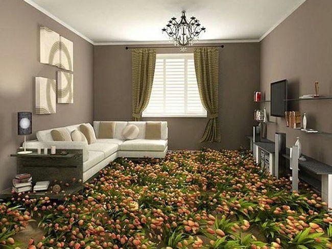 champs de fleur revêtement de sol | idées en + | pinterest