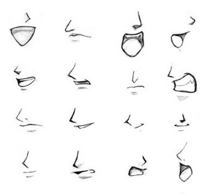 Anime Mouths Lips Drawing Anime Mouth Drawing Anime Mouths
