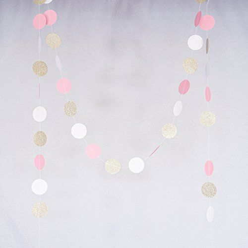 Champagne Party Decoration Circle Dot Garland Streamer Kit Twinkle Star Paper