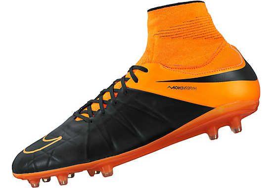 quality design 44c33 a51c2 Nike Hypervenom Phatal II DF FG Leather Soccer Cleats - Black and Orange