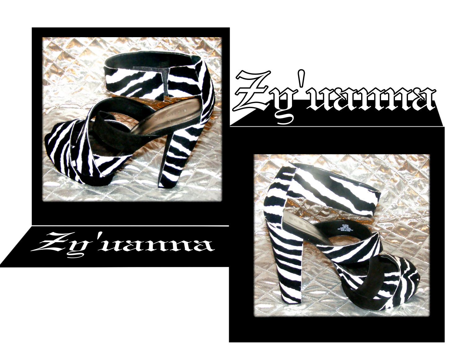 Black and white shoes That has been customized by me. Vida