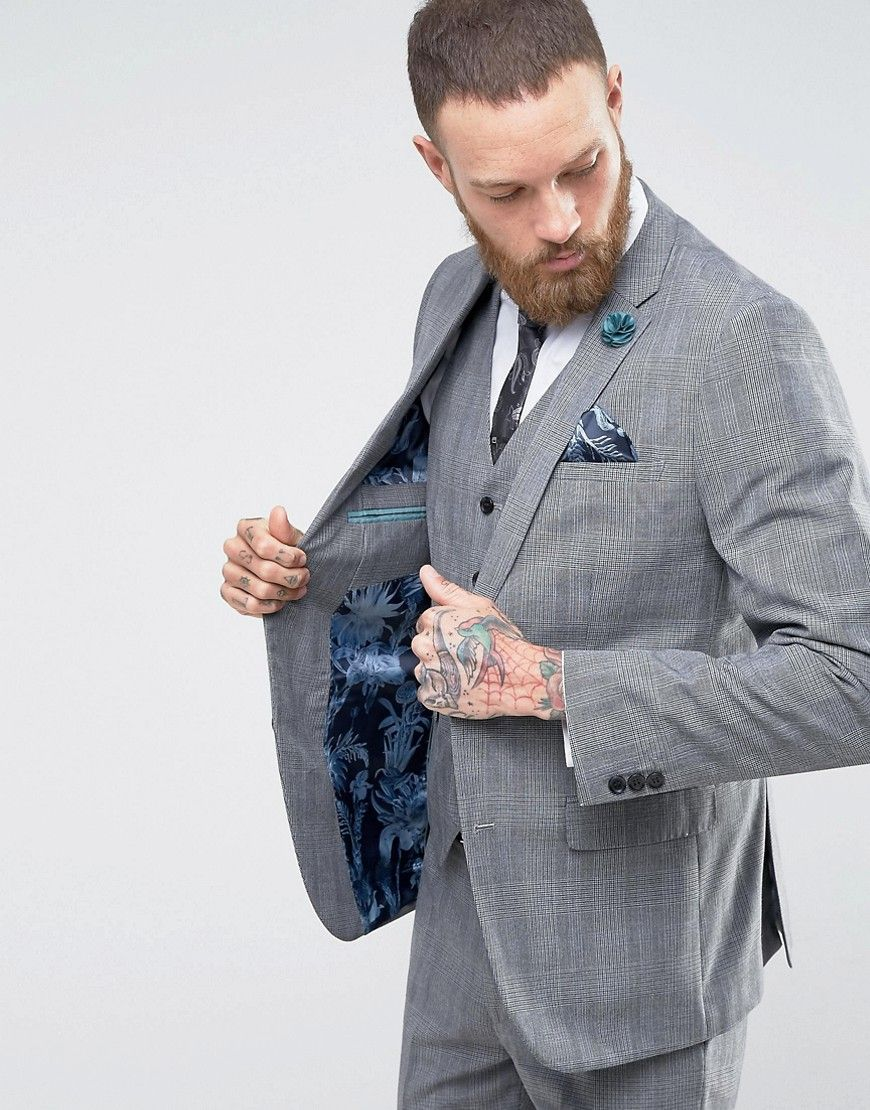 785e8ba4a41b Harry Brown Check Suit Jacket - Gray | Suits | Brown suits, Checked ...