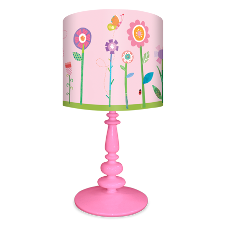 Flower Garden Floral Lamp Shade Or Full Table Lamp With Resin Base For Kids By Jill Mcdonald For Oop Creative Lamp Shades Kids Table Lamp Antique Lamp Shades