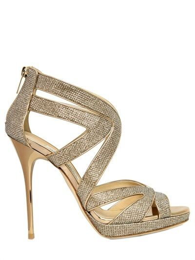 1ee7118982a Jimmy Choo 120mm Collar Glitter Cage Sandals on shopstyle.com ...