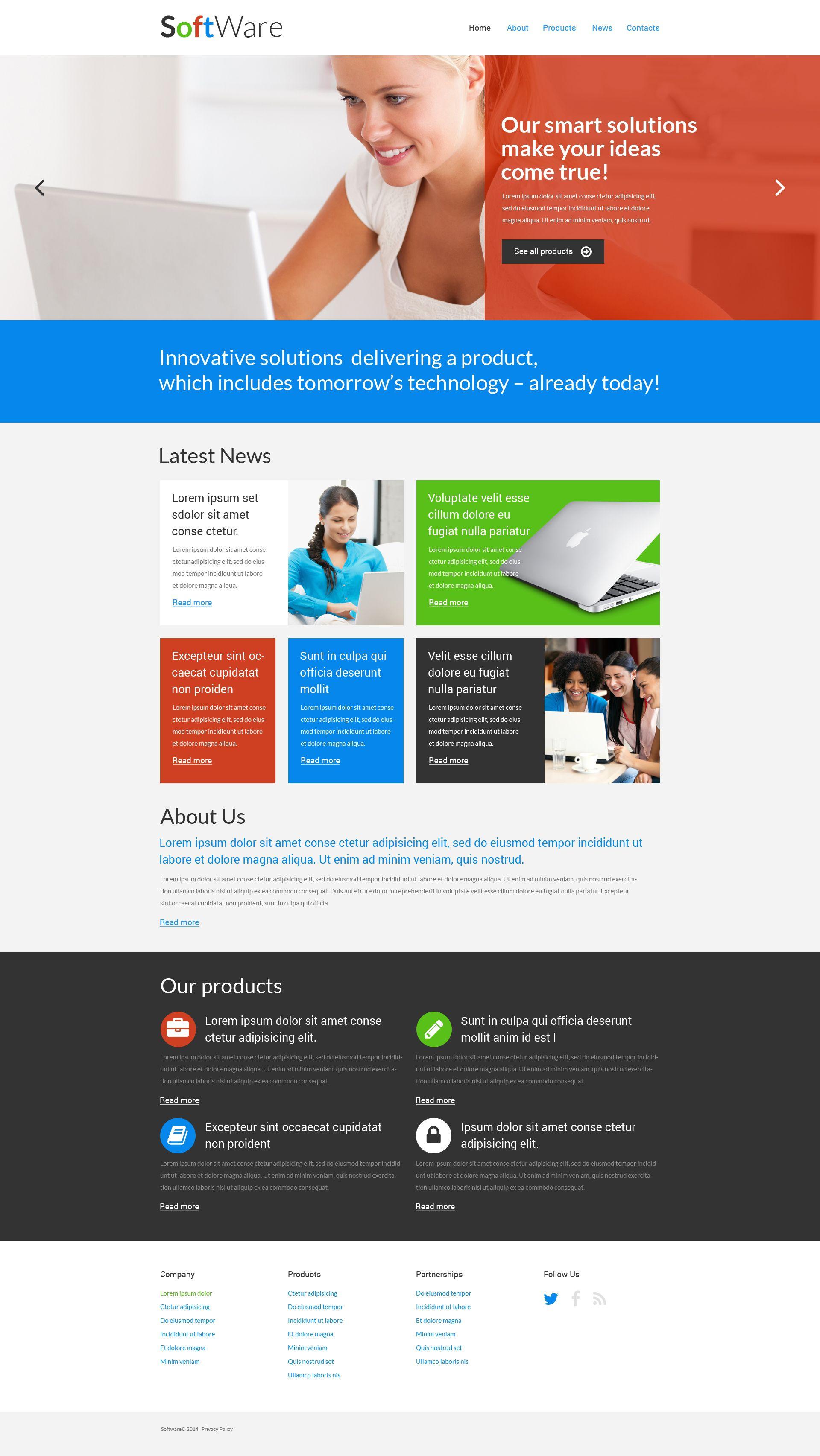 Keysoft Software Company Creative Multipage Html Website Template Website Template Web Design Software Templates