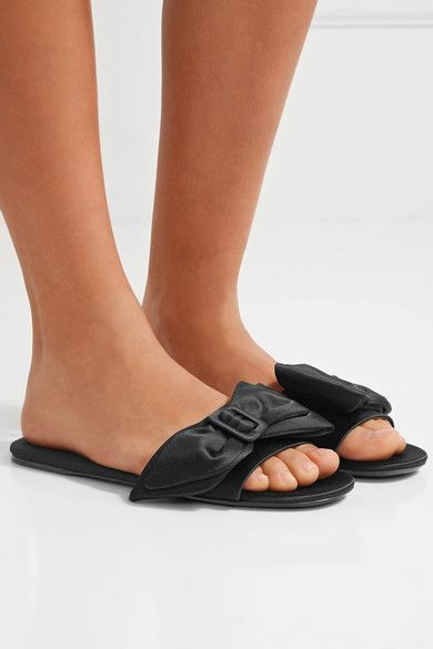 Prada Embellished Satin Slide Sandals good selling online wZxy1b