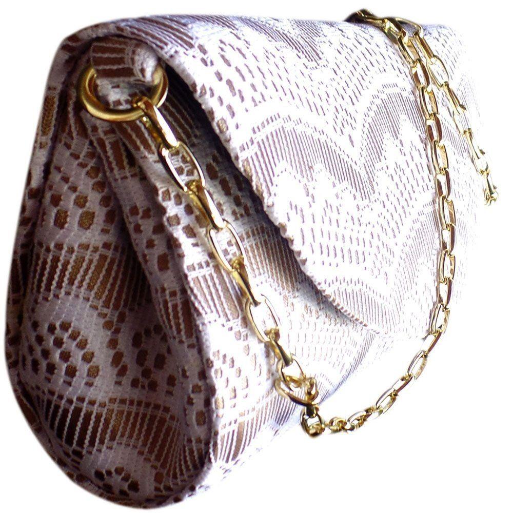 Bolsa De Festa Em Atacado : Bolsa social handbag em renda com al?a corrente