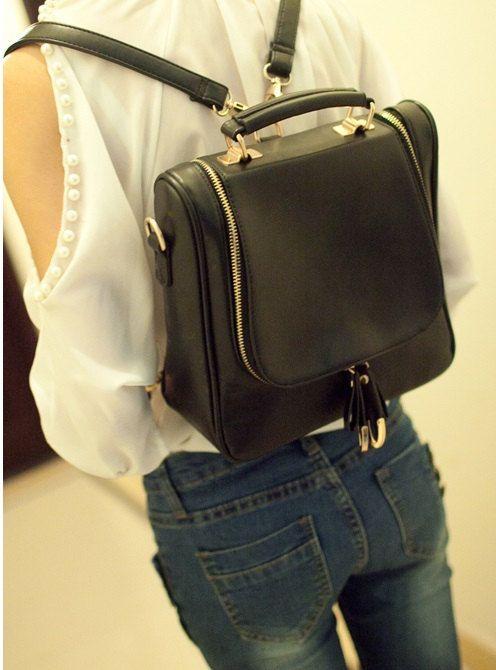 8541daece199 Retro Women back pack Bag Kpop satchel Bag Korean shoulder bag Vintage Tote  bag clutch bag black orange bag business bag travelling bag