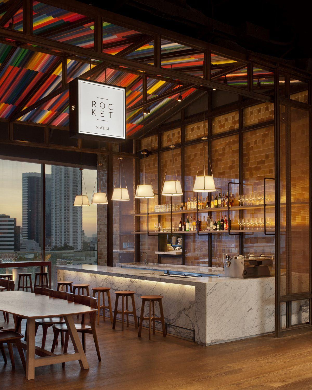 Rocket coffee bar at Siwilai Bangkok Bar design
