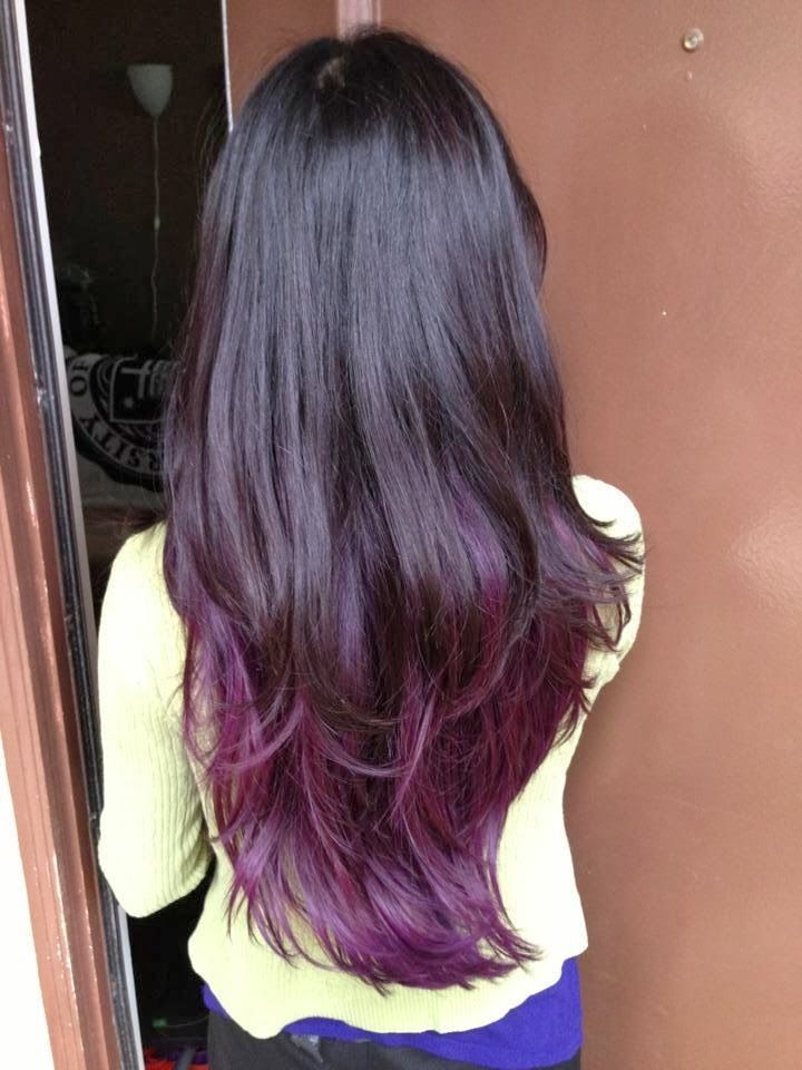 Dark Hair: Purple Thing Going On | On a good hair day ...