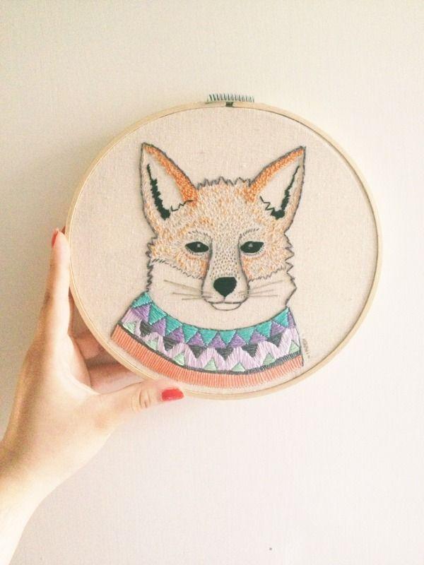 Indi Maverick: Bordados Animales | embroidery | Pinterest | El ...