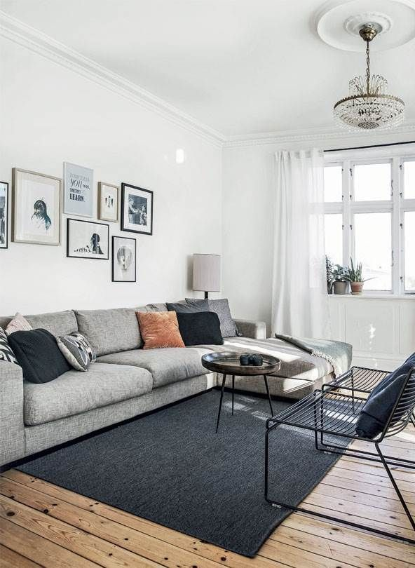 Scandinavian Apartment With Wooden Floors Mid Century Modern