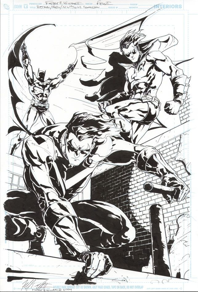 Nightwing, Robin and Batman by Freddie E Williams II | Nightwing ...