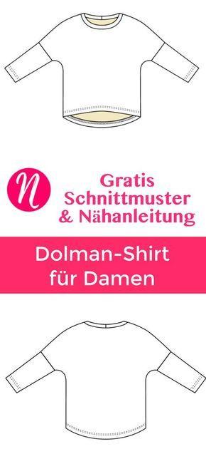 Fledermausshirt für Damen   Nähanleitung, Drucken und Magazin