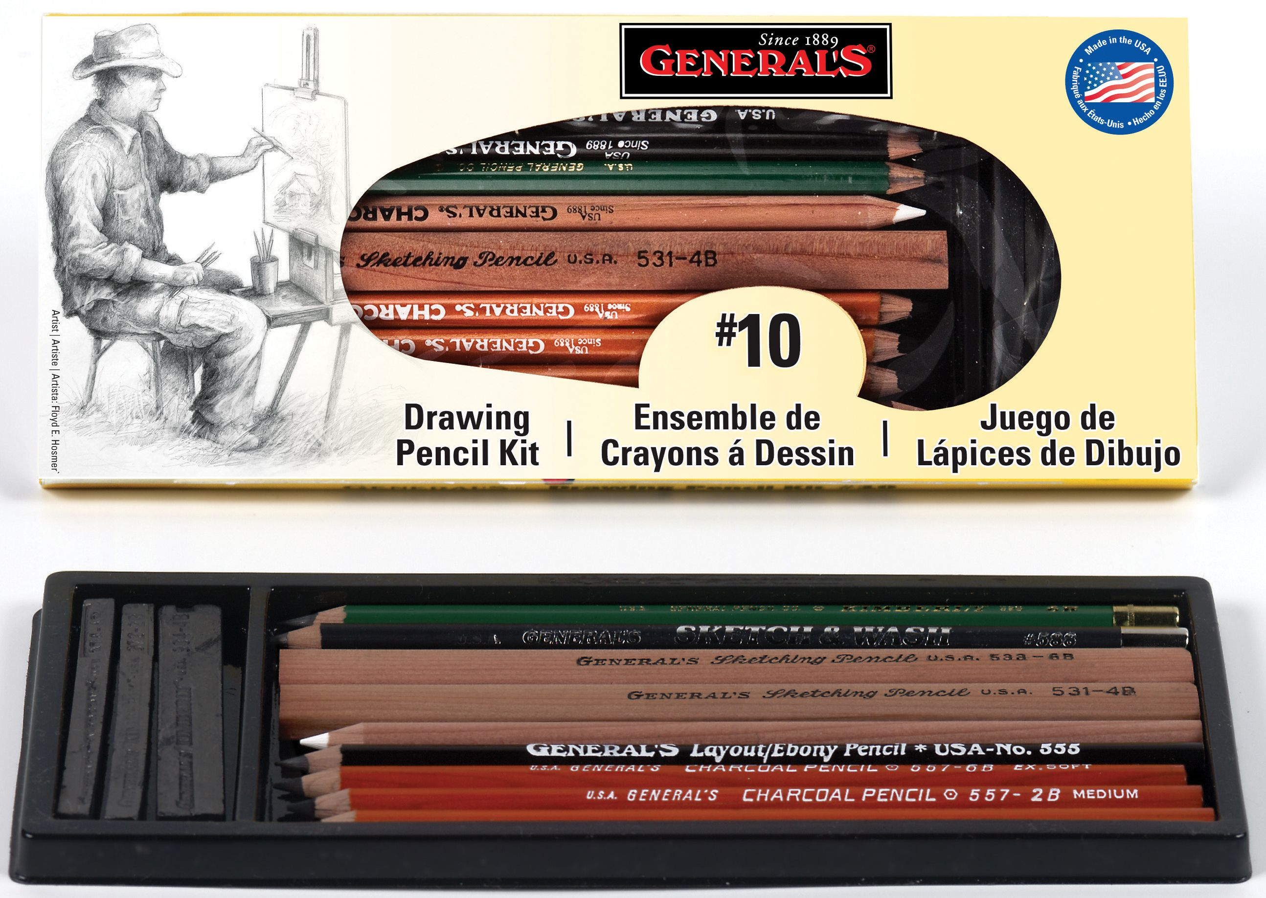General Pencil 10 Classic Drawing Pencil 13 Piece Kit At Guiry S Color Source Pencil Drawings Drawings Pencil