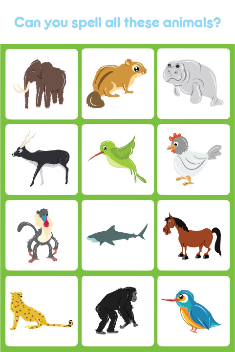 Kids Learn The Names Of Different Animals As Well As Learn How To Spell Animal Names Visit Us At Apps Eddypaddy Spelling For Kids Learning Apps Kids Learning
