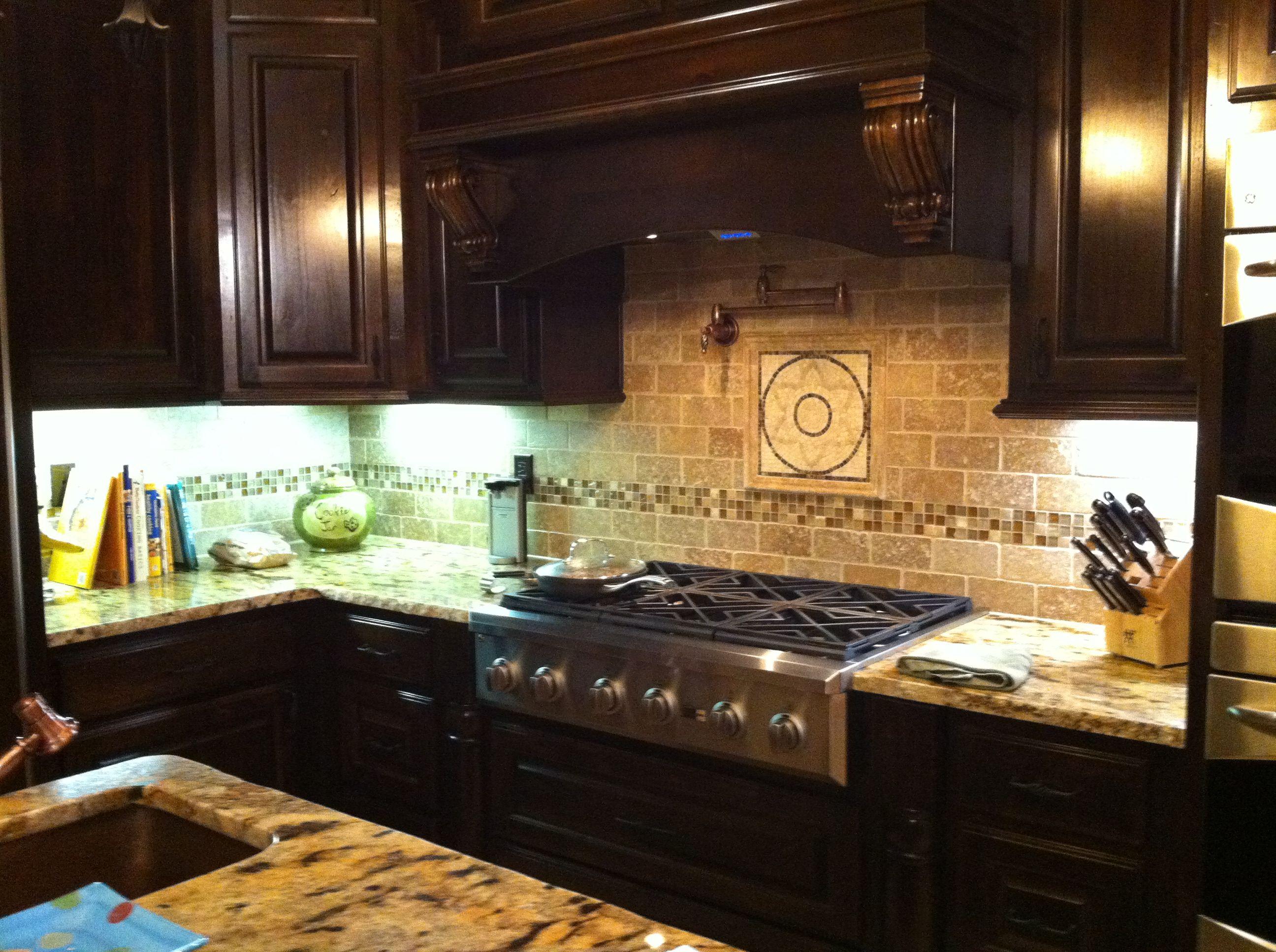 - 3x6 Noce Travertine Kitchen Backsplash The Stone Link Design