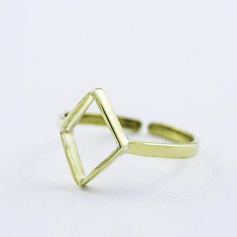Diamond Cut Buckle Ring / Elmas Kesim Eklem Yüzüğü - Lucky Culture
