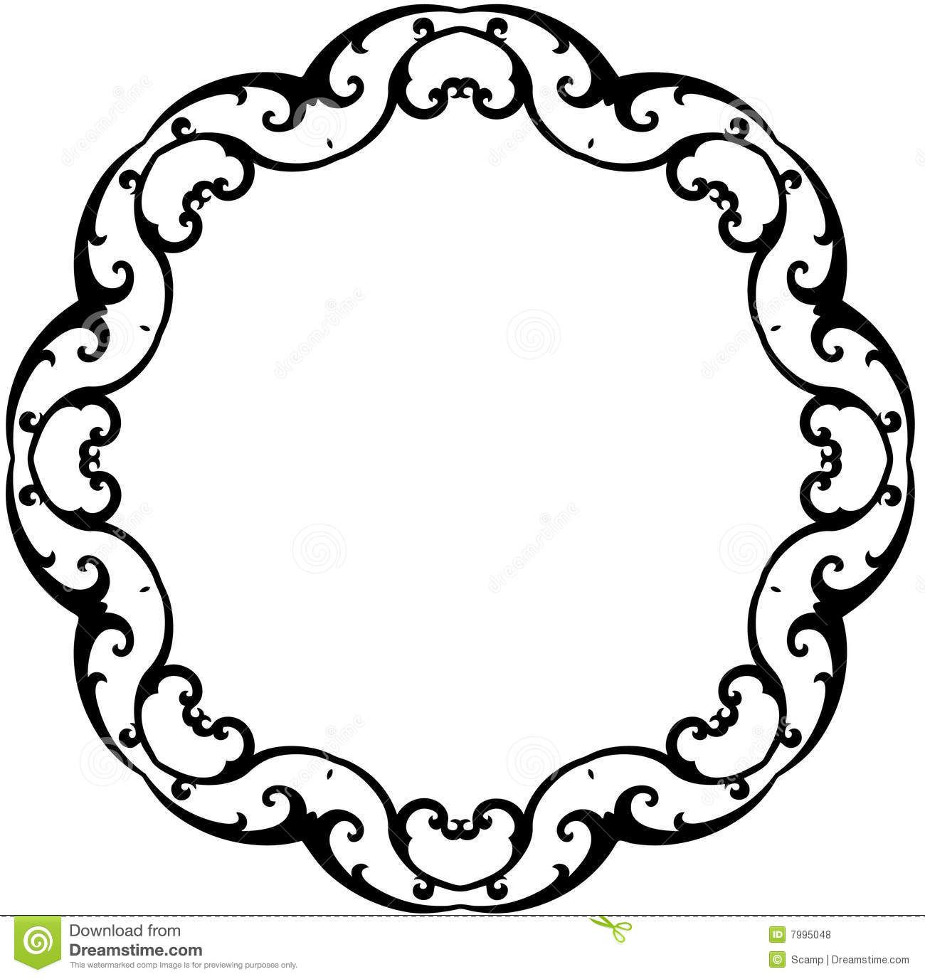 black scroll frame clip art clipart panda free clipart images [ 1300 x 1376 Pixel ]