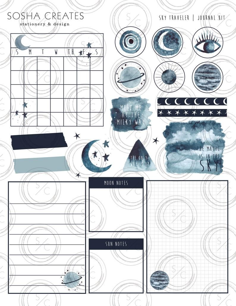 Sky Traveler Journal Kit-DOWNLOAD