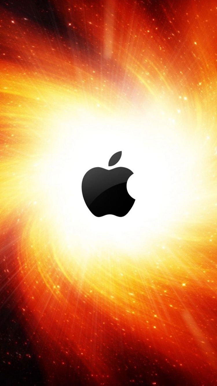 Bright Apple logo 02 iPhone 6 Wallpapers Abstract iphone
