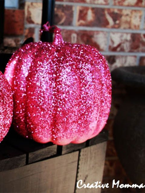 Pink Glittered Pumpkins Everything Looks Better When Its Covered In Glitter Even