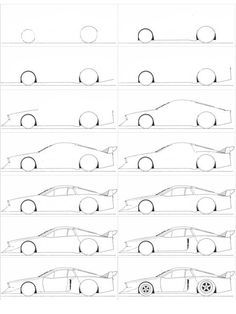 Comment Dessiner Une Voiture Facilement How To Draw Drawi