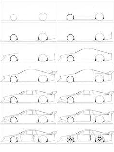 Comment dessiner une voiture facilement pinteres - Voiture simple a dessiner ...