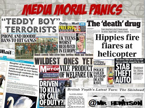 Moral Panic Folk Devils Via Mrhewitson Scly4 Crime And Deviance
