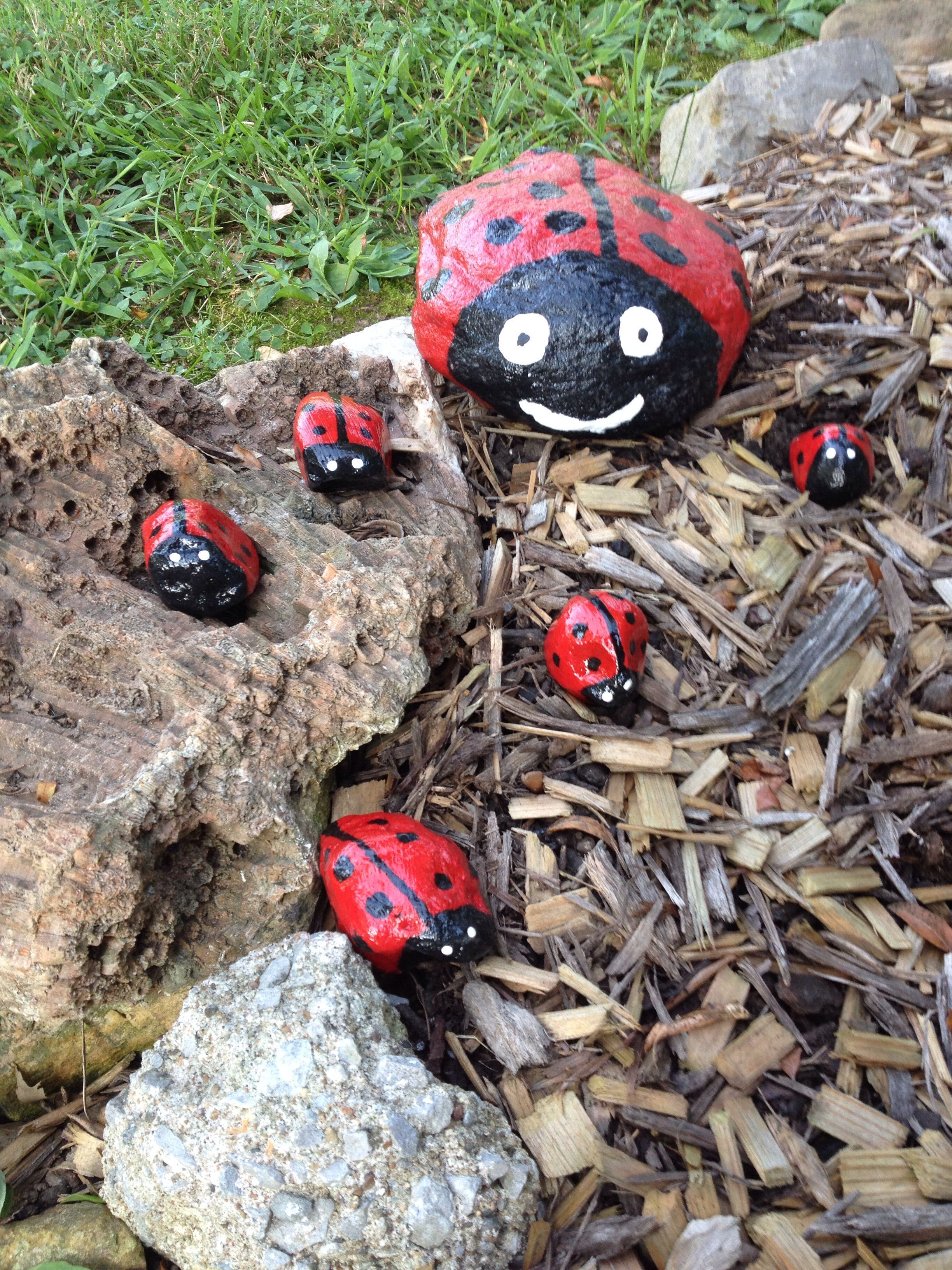 Painted rocks dress up any garden!