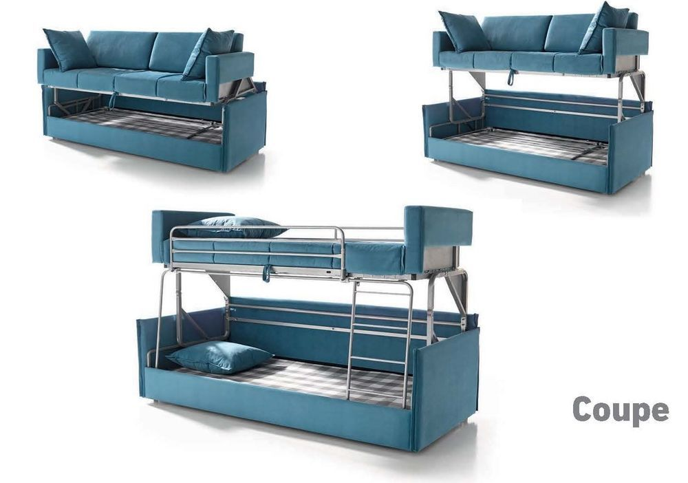 Coupe Sofa Bed Special Order In Artemis 5 Stone Made In Spain Suinta Bunk Beds Kids Bunk Beds Small Spaces Bunk Bed