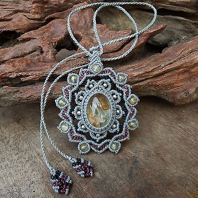 Lodolite Cabochon Pendant or necklace