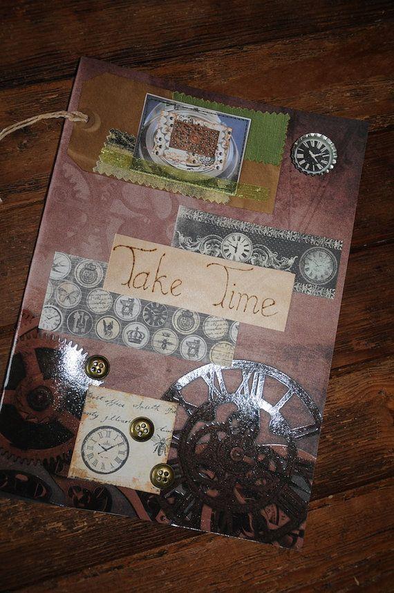 Steampunk Journal Clockwork Sketchbook Diary Notebook Sketch