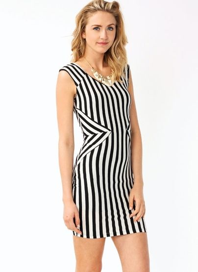 Vertical Lines Are A Girls Best Friend Why Because They Are Slimming And Create The Illusion Of Kurti Designs Latest Striped Sleeveless Dress Fashion Design